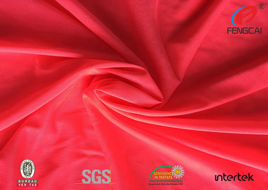 Bright Red Polyester Fluorescent Material Fabric , High Visibility Uniform Fabric