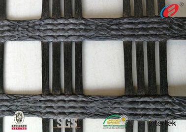 China Polyester  Geogrid Reinforcing Fabric Retaining Wall Material Bitumen Coating supplier