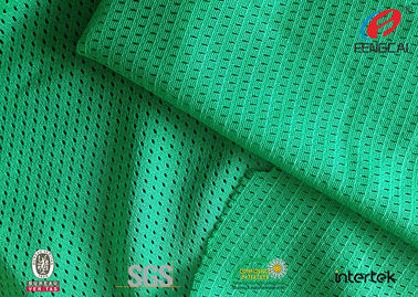 Lime Green Dull Sports Mesh Fabric 100 Polyester Moisture Wicking Fabric  5*1 Design
