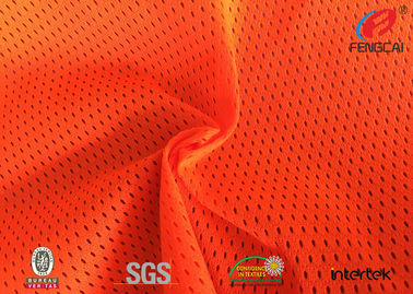 China Orange Fluorescent Mesh Fabric Police Uniform Material Eco Friendly supplier