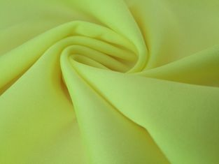 China Swimsuit Yellow Color Stretch  87 Nylon 13 Spandex Fabric 40D + 40D Yarn Count supplier