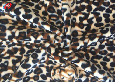 China Stretching Polyester Spandex Velvet  Fabric , Printed Warp Knitting Fabric supplier