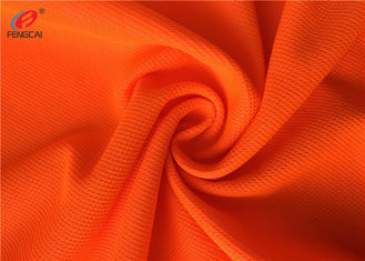 China Flame Retardant Fluorescent Material Fabric Weft Knitted Polyester Fabric For Uniform supplier