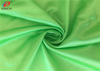 China Warp Knitted Polyester Tricot Brushed Fabric , Shiny Dazzle Fabric For Jerseys supplier