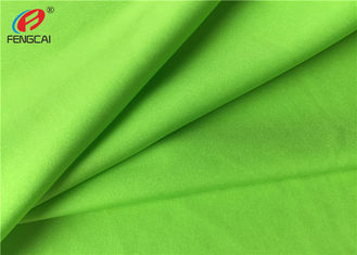Green Color 80 % Nylon 20 % Spandex Sportswear Fabric 40D + 40D Yarn Count