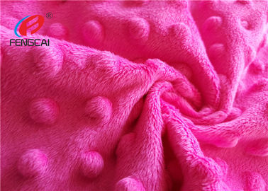China 100% Polyester Minky Plush Fabric / Minky Dot Blanket Fabric For Making Baby Blankets supplier