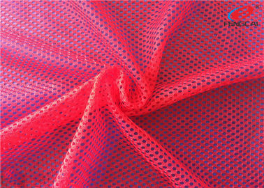 China Customized Knit Big Hole Sports Mesh Polyester Fabric For Women Clothing supplier