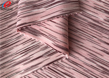 China 4 Way Stretch Weft Knitted Melange Fabric Yard Dyed Single Jersey Fabric For T - Shirt supplier