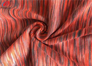 China melange Weft Knitted Fabric Polyester Spandex Yarn Dyed Fabric For Sportswear supplier