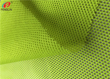 Neon Colour Fluorescent Mesh Fabric Police Uniform Material Eco Friendly