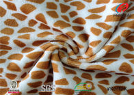 China Custom Rotary Patterned Minky Fabric , Leopard Print Minky Fabric By The Yard company