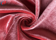 China Stretch Polyester Spandex Velvet Fabric , Elastic Fleece Fabric For Full Dress company