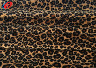 Leopard Printed 100% Stretch Polyester Fabric 1MM Velboa Fabric Eco Friendly