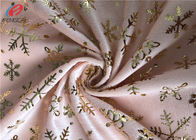 Super Soft Polyester Velvet Fabric Bronzing Printed Velboa Fabric For Upholstery