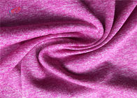 China Polyester Spandex Melange Fabric For Fitness Clothing Breathable Yoga Fabric factory