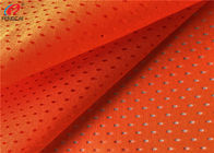 China Flameproof Fluorescent Mesh Material Fabric Orange Polyester Fabric For Safety Vests factory