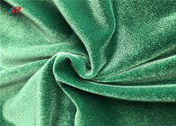 China Shiny Green Warp Knitted Polyester Elastane Fabric For Garment Dress Blanket company