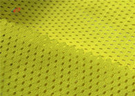 China 120GSM Yellow Color Fluorescent Material Fabric For Fashion Traffic Safety Clothing company