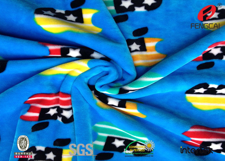 ace79419f0 Custom Printed 95% Polyester 5% Spandex Velvet Fabric , Super Soft Knit  Fleece Fabric