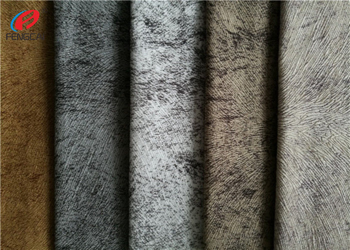 Microfiber Sofa Velvet Upholstery Fabric 100 Polyester Embossed Burnout