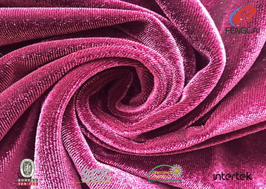 China Microfiber Polyester Spandex Velvet Fabric Brushed Anti-plling Velour Fabric For Dress factory