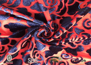 China 100%Polyester Burnout Spandex Velvet Fabric Lycra Cloth Material 61'' Width factory
