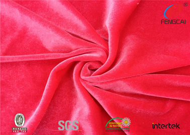 China Coral Stretch Velour Fabric , Soft Stretch Crushed Velvet Fabric For Curtains factory