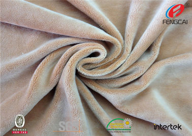 Warp Knitted Poly Spandex Velvet Fabric Good Handfeel Customized Color