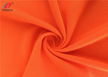 China Orange Reflective Fluorescent Material Fabric Multifunctional Bird Eyes Mesh Fabric factory