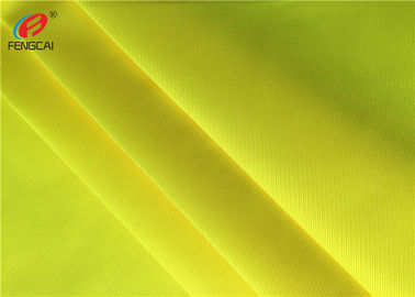 China Bright Yellow Polyester Fabric , High Reflective Fluorescent Fabric Safety Vests Material factory