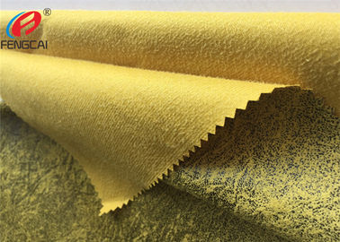 China Warp Knitted Bronzing Micro Suede Polyester Fabric For Sofa / Upholstery distributor