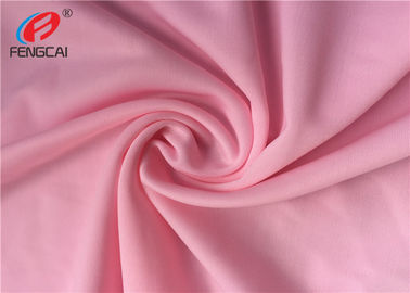 China 40D Waterproof 4 Way Stretch Nylon Spandex Fabric For Dress In Pink Color factory