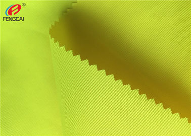 Customized Bright Yellow Fluorescent Material Fabric 100 % Polyester Warp Knitting