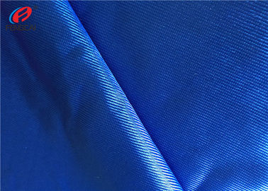 Bright Blue Reflective Dzaale Fabric , Polyester Elastane Fabric For Jersey