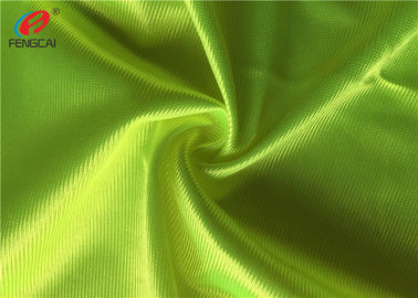 Fluorescent Colour Shiny Dazzle Fabric , Polyester Knit Fabric Custom Size