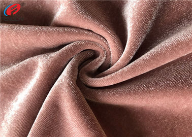 China Knit Azo-free Shiny Stretch Polyester Spandex Velvet Fabric For Garment factory