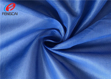 Eco Polyester Breathable Sports Mesh Material For Shoes , Dark Blue Color