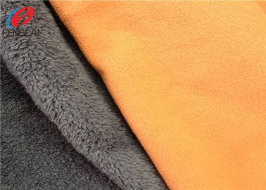 Soft Shell TPU Coated Fabric Polar Fleece Bonded With Polyester Velboa Material