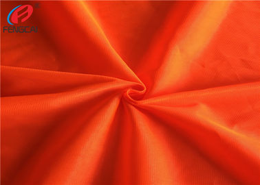 China Safety Vest Orange Reflective Fabric Fluorescent Material Fabric For Garment factory