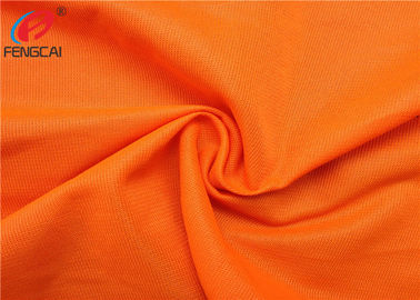 China Orange Colour Reflective Polyester Fluorescent Material Fabric As Uniform Material factory