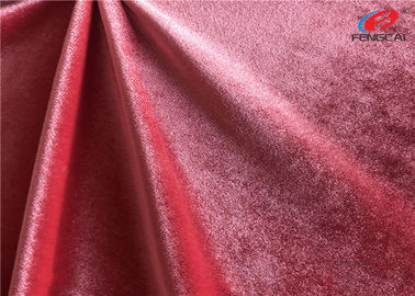 Customized Color Brushed Polyester Spandex Velvet Fabric Stretch Velour Fabric