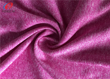2f70a3a4497 China 150gsm 100% Polyester Weft Knitted Fabric Melange Single Jersey Fabric  distributor