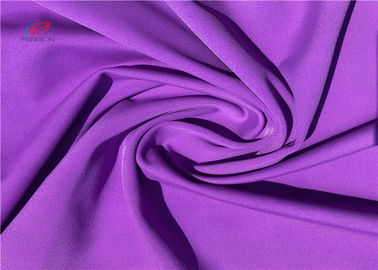 China Healthy Elastic Stretch Polyester Spandex Fabric For Sports In Purple Color distributor