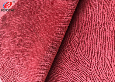 China Burnout Synthetic Sofa Velvet Upholstery Fabric Custom Colour Polyester Minky Fabric distributor