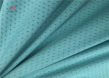 China Grean Colour Sports Mesh Fabric , Polyester Spandex Blend Fabric For Garment Sports distributor