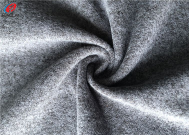 China Garment Cloth Marls Melange Knit Fabric For Polyester Grey Brushed Sweater factory