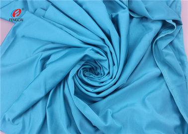 China UPF 50 Soft Hand Feel 4 Way Stretch Lycra Fabric Blue Color Warp Knitted distributor
