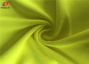 China 100% Polyester Fluorescent Material Fabric Weft Knitting Dry Fit Golf Polo Shirt Fabric distributor