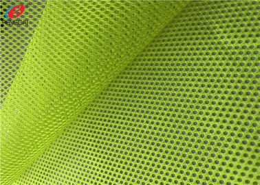 China Reflective Flag Fluorescent Mesh Material Fabric Polyester Uniform Fabric For Vests factory