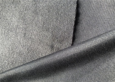 China Brushed Polyester Tricot Knit Fabric Grey Colour Super Poly Jersey Fabric distributor